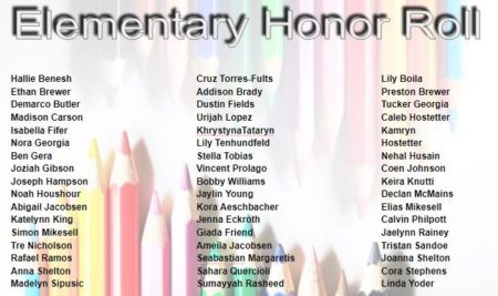 Elementary Honor Roll–Congratulations!