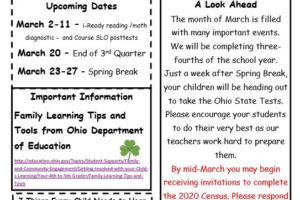 Elementary March Newsletter