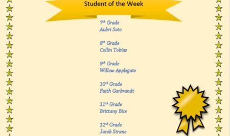 BOSS Jr/Sr High School Student of the Week