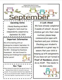 Elementary September Newsletter