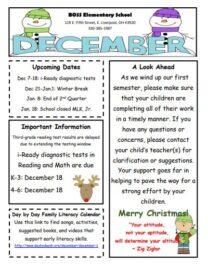 Elementary December Newsletter