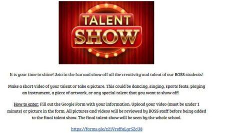 BOSS Virtual Talent Show (grades 6-12)