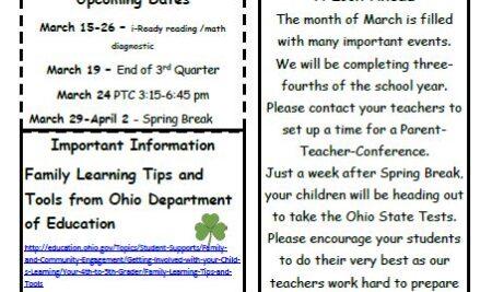 BOSS Elementary March Newsletter